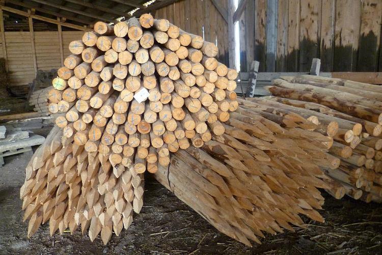 Dřevěné kůly cena